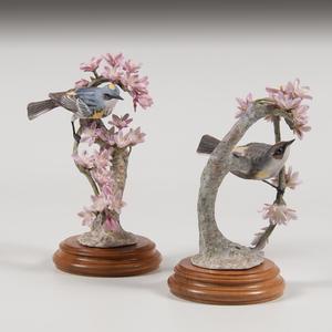 Royal Worcester Dorothy Doughty Myrtle Warbler Figures