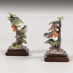 Royal Worcester Dorothy Doughty Cerulean Warbler Figures