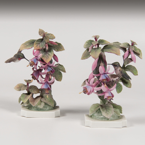 Royal Worcester Dorothy Doughty Ruby-Throated Hummingbird Figures