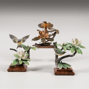 Royal Worcester Dorothy Doughty Parula Warbler Figures, Plus