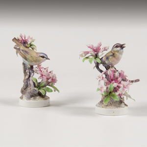 Royal Worcester Dorothy Doughty Red-Eyed Vireo Figures