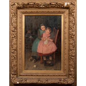 Wally Moes (Dutch, 1856-1918) Oil on Canvas