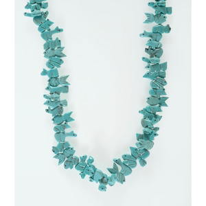 Carved Turquoise Fetish Necklace