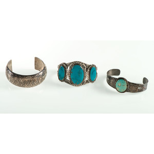 Southwestern Silver Cuff Bracelets, From the Estate of Krystal E. Nitschke, Chicago, Illinois