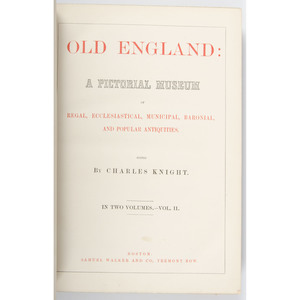 "[Architecture - 19th Century England] Three Volumes of English Architecture - Prout on Castles, Bridges, Etc. plus Knight on ""Old England"""