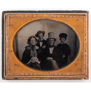 Charming Quarter Plate Ambrotype of a Family