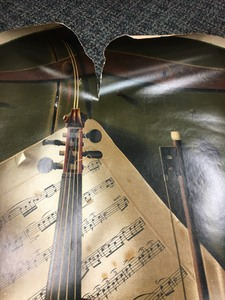 The Old Violin Chromolithograph after W. M. Harnett (1848-1892)