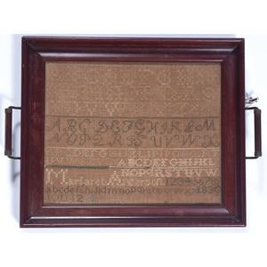 Alphabet Sampler Dated 1830