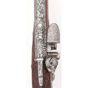 Early Austrian Flintlock Pistol by Peter Planer