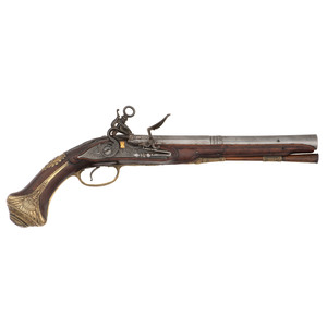Rare Early Spanish Madrid Lock Flintlock Pistol Circa 1730