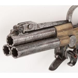 Three-Barrel Tap Action with Folding Bayonet by John Gardner