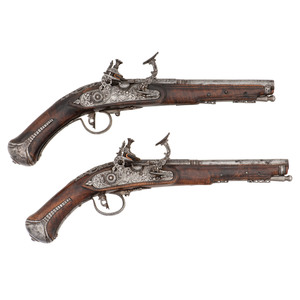 Early Pair of Tosco-Emelian Snaphance Pistols