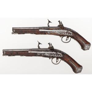 Early Pair of Tosco-Emelian Snaphance Pistols