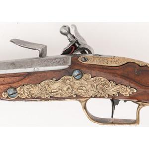 Pair of 18th Century German Flintlock Pistols by F. Petter