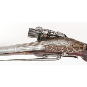 Early Spanish Ripoll Butt Miquelet Pistol