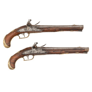 Pair of 18th Century Austrian Flintlock Pistols