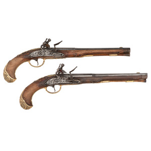 Pair of German Flintlock Pistols