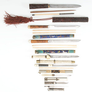 Lot of Chinese Trousse Sets