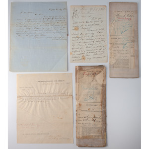 Letter about Smallpox and Civil War Hospital and Medical Documents
