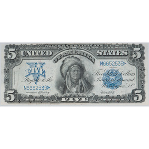 United States $5 Silver Certificate Series of 1899
