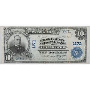 United States $10 National Currency Bank of Chillicothe Series of 1902