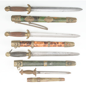 Lot of Four Miniature Chinese Swords