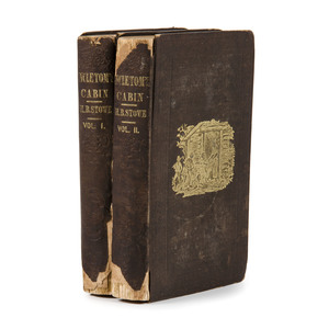 [American Literature - Slavery] Uncle Tom's Cabin, by Harriet Beecher Stowe, 1852, First Edition, Later 1852 Issue, Bindings Worn