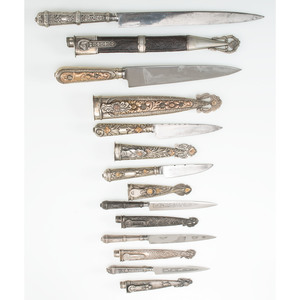 Lot of Seven Argentine Gaucho Knives