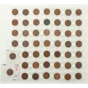 Indian Head Pennies 1859-1909