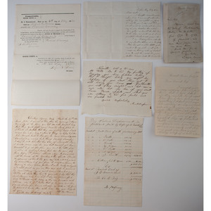 Civil War-date Civilian Letters and Documents, Some with War Content, Plus Charles Sumner ALS
