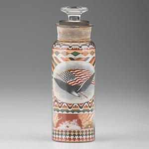 Andrew Clemens Sand Bottle with Patriotic Decoration