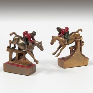 Paul Herzel (German-American, 1876-1956) Bronze Bookends