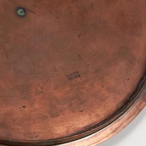 Porcelain Bowl with Hammered Copper Potter Studio Lid
