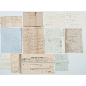 Mid-19th Century Military Documents, Incl. War of 1812 Captain Samuel Swartwout DS, Plus