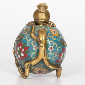 Chinese Cloisonné Pomegranate Censer