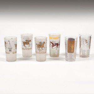 1950s Kentucky Derby Glasses