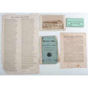 Collection of Ten Civil War-Related Imprints and Engravings, Including Rare Political Broadsheet