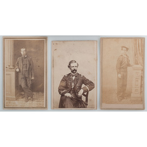 Civil War Naval Carte de Visite Collection, Lot of 4