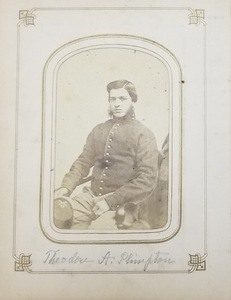 CDV Album of the Plimpton Family, with Photograph of Private Theodore A. Plimpton, 11th Massachusetts Battery