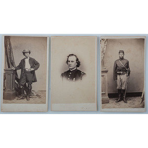 Lot of 3 CDVs of Civil War Soldiers