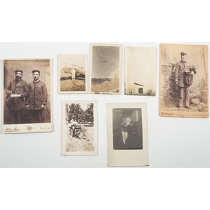 Varied Photography Collection, Incl. Zeppelin, Early Motorcycle, and More, Lot of 7