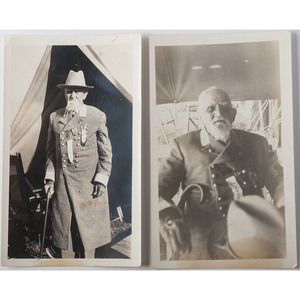 Two Snapshots of General M.D. Vance, Former UCV Commander, at the 75th Anniversary Gettysburg Reunion