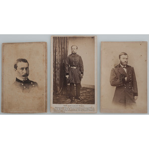 Three CDVs of Civil War Generals, Including Gen. Grant