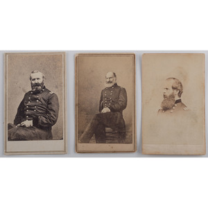 CDVs of Gettysburg Commanders, Lot of 3