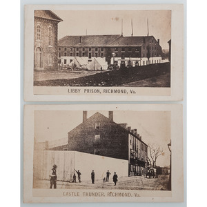 Civil War Prison CDVs with Views of Castle Thunder and Libby Prison, Richmond, Virginia