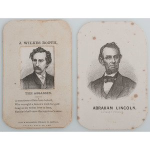 Lithographic CDV Pair of Abraham Lincoln and John Wilkes Booth