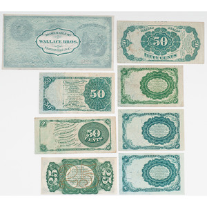 United States Fractional Currency, Lot of Sixteen
