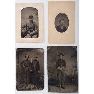 Four Tintypes of Civil War Soldiers