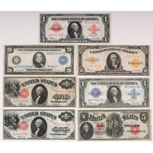 United States Paper Currency, Lot of Seven