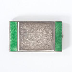 Austrian Silver Guilloche Card Case